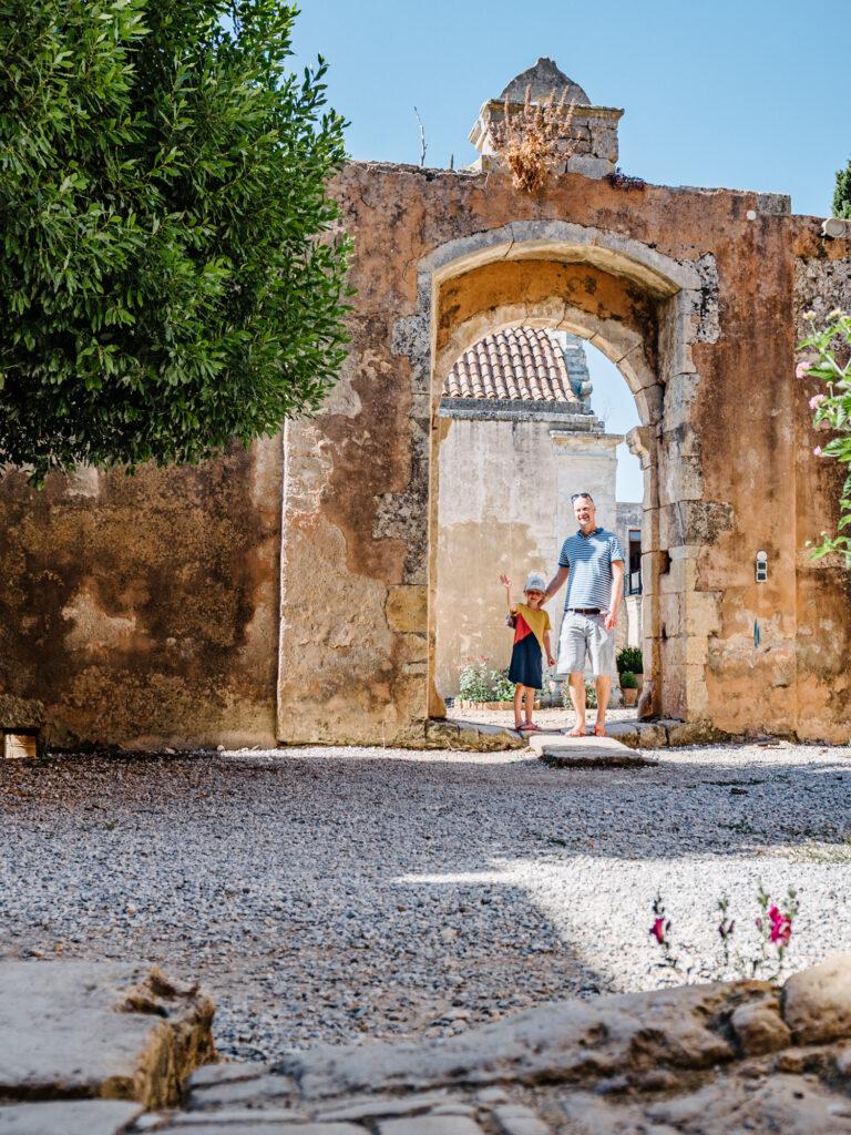 Kreta mit Kindern - Arkadi-Kloster in der Nähe von Rhetymno