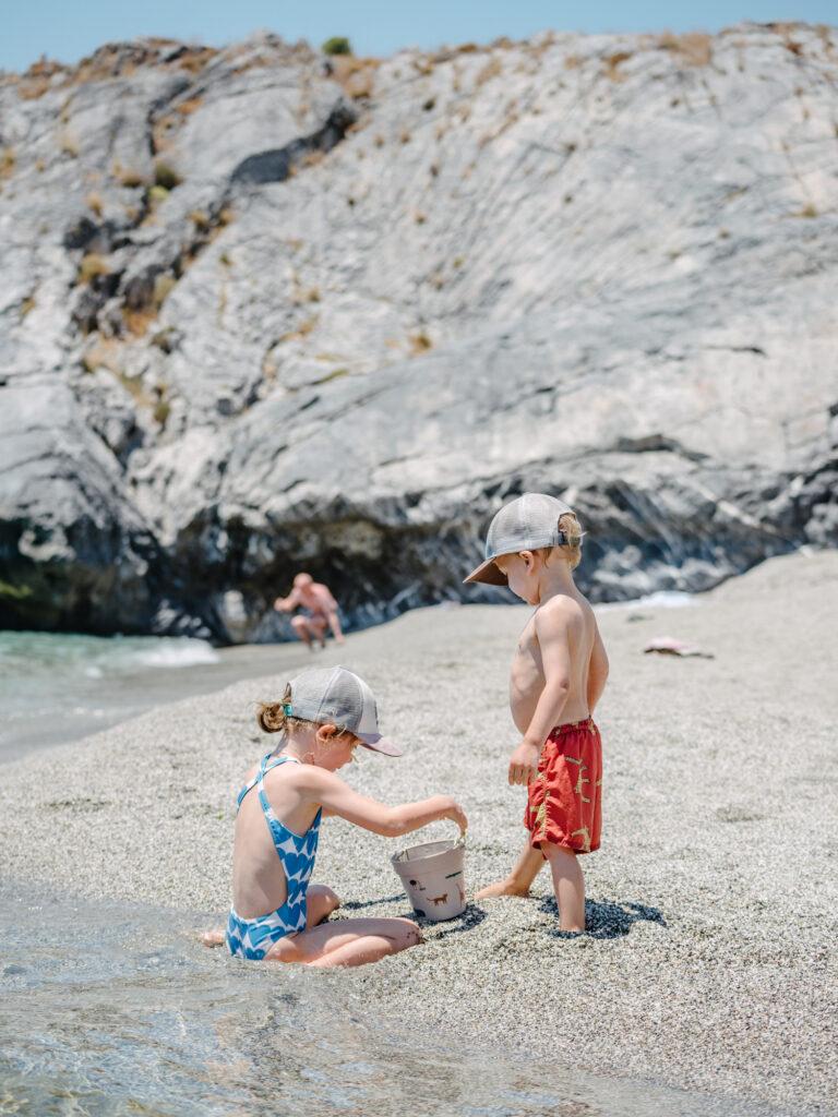 ammoudaki strand mit Kinder kreta Griechenland